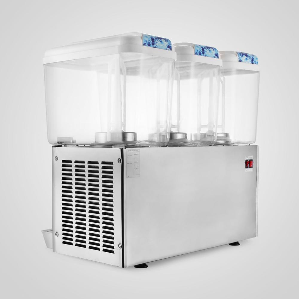 14.25 Gallon Cold Fruit Juice Beverage IceTea Dispenser 18L x 3 Tanks