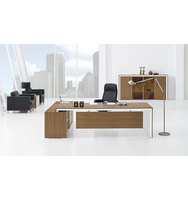 Industrial Style Office Desk, Executive Office Desk, Melamine Office Desk