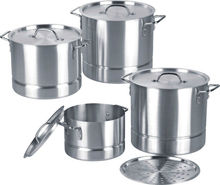 Trade assurance supplier high quality large aluminum Stock camp cooking pot