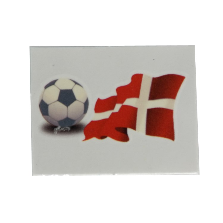 Personalized cute coated paper football stickers with flag