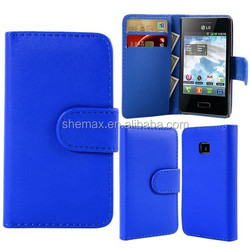 Hot new product for 2015 flip leather case for LG optimus L3 E400