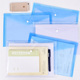 A4 Transparent Clear Plastic File Folder Bag Document Holder