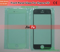 White/Black Normal LCD Screen Front Touch Panel Glass Lens Cover For Phone 5G 5S 5C Refurbish Repalcement
