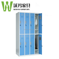 Portable cheap detactable metal steel closet locker wardrobe metal cloth wardrobe cabinet