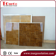 Tourgo Portable Dance Floor at Event Wedding or Dance Competition Solid Wood Seamless Floating Dance