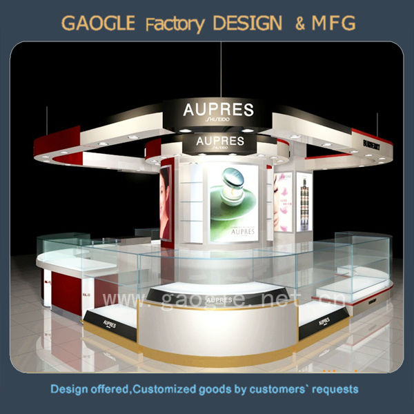 Guangzhou perfume make up display stand for perfume shop decoration