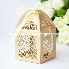 "Hot sale! laser cut ""filigree"" paper box packing from Mery Crafts"