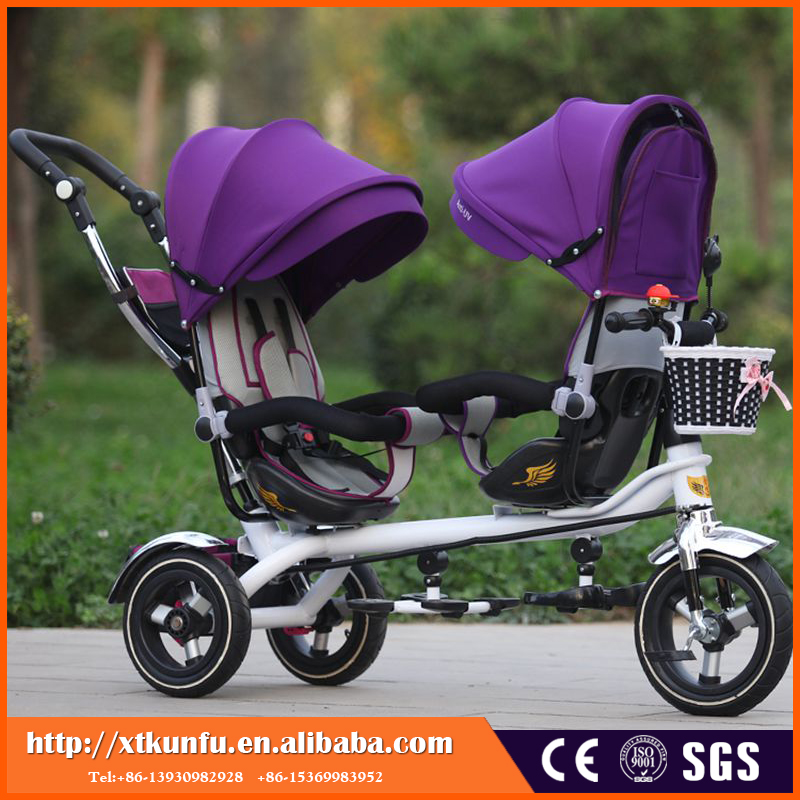 360 swivel front wheels colorful stroller baby stroller bike 3 in 1 for twins