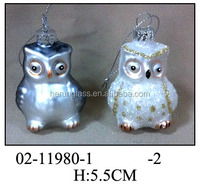 Painted Glass Owl