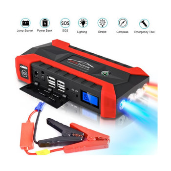 Portable 20000mah Car Power Bank Jump Starter 12V Auto Emergency Booster Charger for 6L Gas and 4L Diesel LED Flashlight