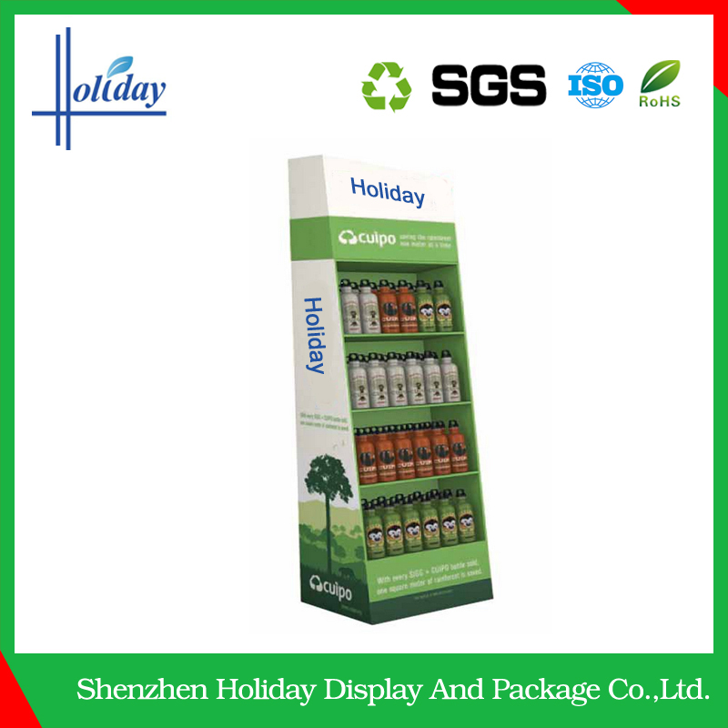 Hot sale Customized Colorful Water Bottle Display Stands for Joyshaker ,beverage display rack,energy/soft drink display stand