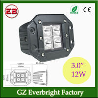 12W led driving light, 4pcs*3w LED Driving Light, For Motorcycle Camping OFF ROAD