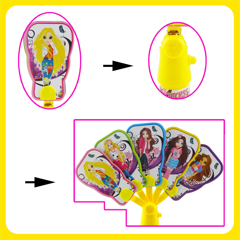 Princess Hand Fan Toy Candy With Sweet Candy