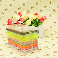 High Quality Double Color Transparent Soft TPU Acrylic Mobile Phone Case Covers for iPhone 6 4.7