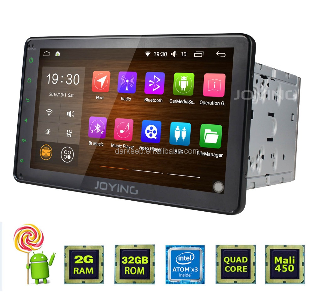 Joying sale 4 Quad Core double din android 6.0 car stereo 8inch gps navigation system