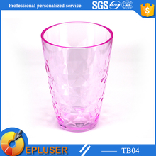 pretty plastic party cup 13oz/400ml coffee brewer tumbler glass