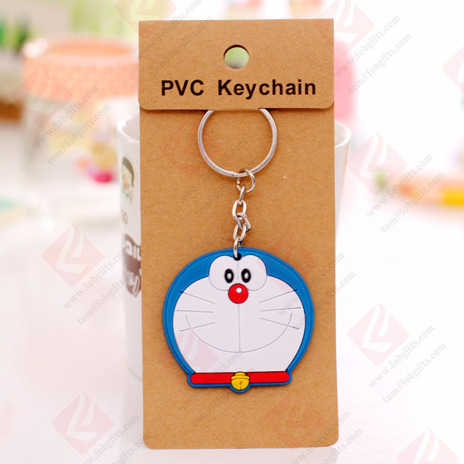 Wholesale custom cartoon soft pvc key chain/new york keychain/key rings fobs