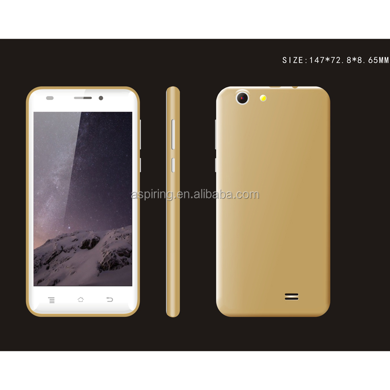 MTK6580 Quad core 5.0Inch Android Cell Phone Smartphone 1GB 8GB low price china mobile lcd