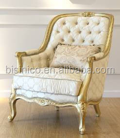 Antique French Provincial Fabric Sofa Set Design Rococo Wooden Carving Living Room Furniture