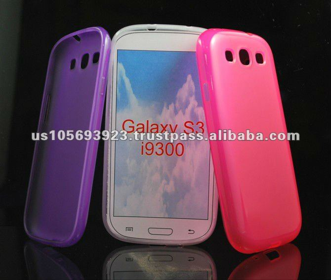 TPU Jelly Case for Samsung Galaxy S3 I9300 Mobile Phone
