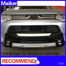 car body kit front bumper with LED light for Mitsubishi Outlander accessories