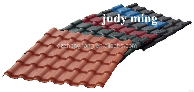 Cheap PVC Synthetic Resin Roof Tile Plastic Spanish Tiles Wholesale