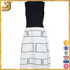 Fashion women casual sleeveless o-neck plaid pattern lady dress