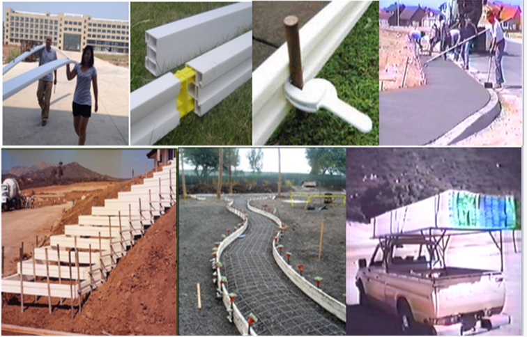 reusable gutter bracket formwork