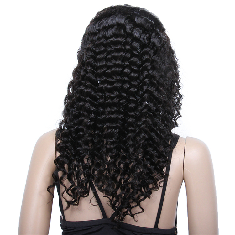 Hot selling deep curl remi brazilian full lace wig manufacturers