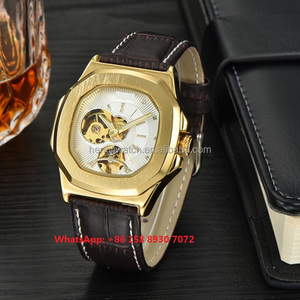 Smart popular automatic men's watches with genuine leather strap FS510