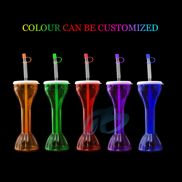 free sample 16 oz 24 oz custom sluch yard cup yard cups slush plastic water bottle bpa free