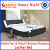 Happy night modern bedroom furniture design king size bed price for sale 2876B