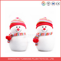 ODM design Promotional Christmas soft snowman plush toy