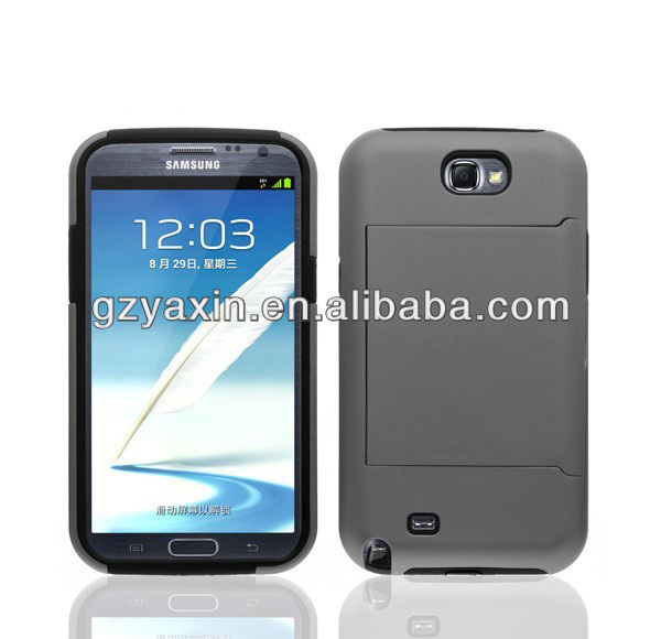 For SAMSUNG GALAXY NOTE 2 II N7100 HYBRID Snap-on Soft/Hard Case Cover
