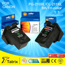 remanufactured inkjet cartridge / wholesale remanufactured ink cartridge for PG-210XL / printer ink cartridge for Canon