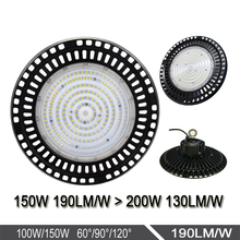 100-277V AC 150w UFO led high bay light,190LM/<strong>W</strong>,USA warehouse inventory