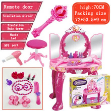 Dresser toy for children Electric Multifunction Make Up Set Toy Dressing Table For Girls