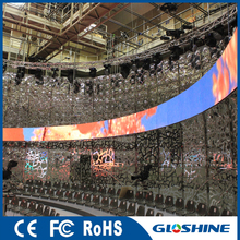 Gloshine V2.97 Indoor P3 flexible led video display wall