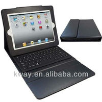 Wireless Bluetooth Keyboard + PU Leather Case for the New iPad 2 3 4 Black Color ,Retail package KOA031