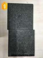 g684 Black basalt tile water jet China granite for sale
