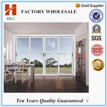 water proof track aluminium balcony sliding glass door