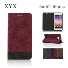 Smart design customized PU leather mobile phonew case for htc M9 Plus 2017