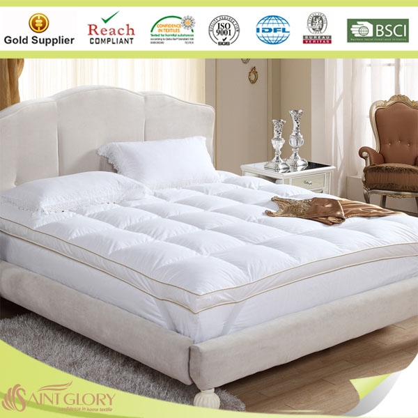 White duck down mattress topper hypoallergenic washable duck down feather mattress manufacturer