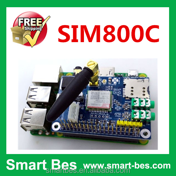 Smart Electronics~ SIM800C Raspberry Pi <strong>GSM</strong>/GPRS Dev.board, Support Raspberry Pi 2/b+/3, RPI SIM800C <strong>GSM</strong> GPRS Module
