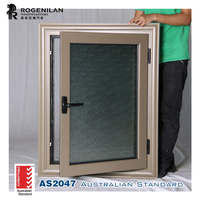 ( AS2047, ISO9001) certificated, house frosted glass commercial colored aluminum windows