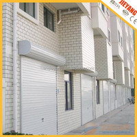 77mm white automatic aluminum rolling door with cover box