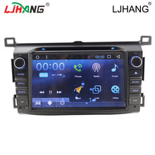 Android 6.0 gps navigation car dvd player for toyota rav4 manual car dvd gps 2013 2016