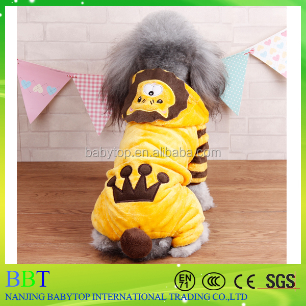 Sale Lion Shape Pet Winter Hoodies Clothing Dog Pet Clothing