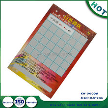 Custom Printing and Wholesale Scratch off Art Paper Bingo Cards