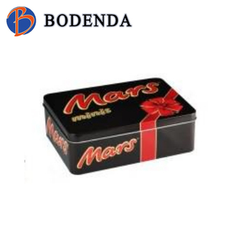 custom candy/ chocolate/card metal container for chocolate manufacturer